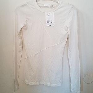 H&M silk long sleeve top